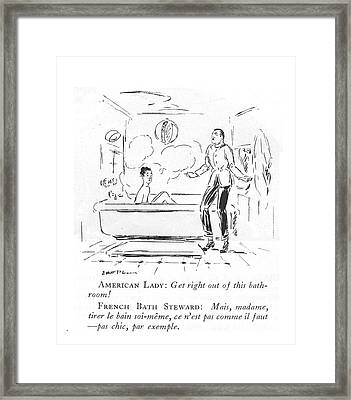 American Lady: Get Right Out Of This Framed Print