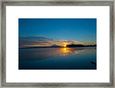 American Lake Sunrise Framed Print
