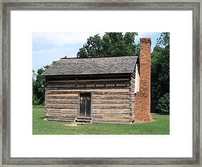 American Log Cabin Framed Print