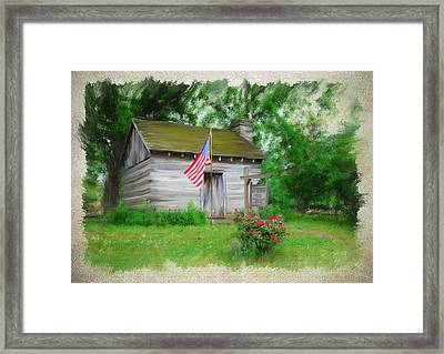 American Log Cabin Framed Print by Mary Timman
