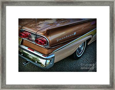 American Luxury - Ford Fairlane 500 Framed Print by Lee Dos Santos