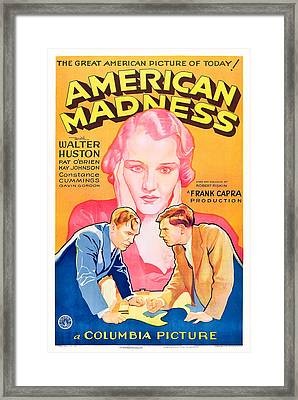 American Madness, Background, Kay Framed Print by Everett