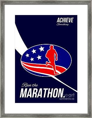 American Marathon Achieve Something Poster  Framed Print
