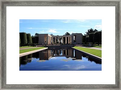 American Memorial Normandy France Framed Print by Aidan Moran
