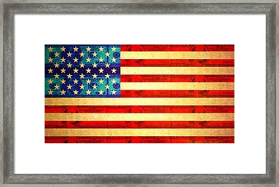 American Money Flag Framed Print