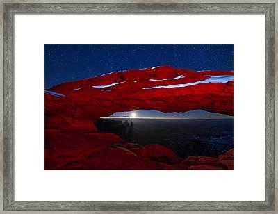 American Moonrise Framed Print by Dustin  LeFevre