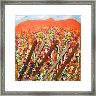 American Mornin' Flower Garden Framed Print