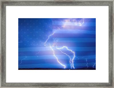 American Mother Nature's Fireworks  Framed Print by James BO  Insogna
