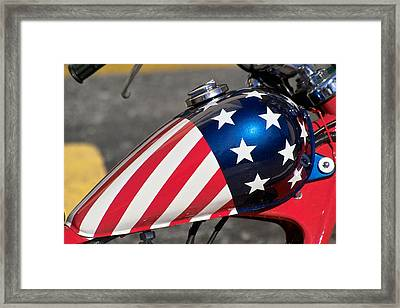 Framed Print featuring the photograph American Motorcycle by Gary Dean Mercer Clark