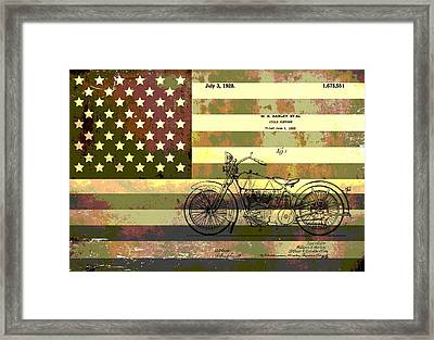 American Motorcycle Patent Framed Print