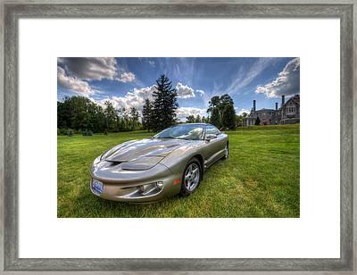 American Musclecar Firebird Framed Print