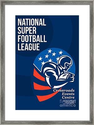 American National Super Football League Poster  Framed Print