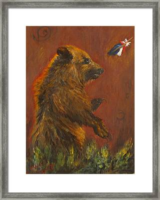 American Native Framed Print by Caroline Owen-Doar