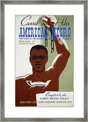 Framed Print featuring the painting American Negro by American Classic Art