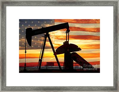 American Oil  Framed Print