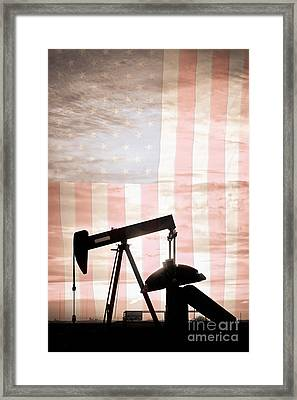 American Oil Well Framed Print by James BO  Insogna