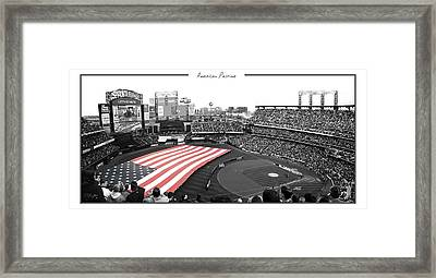 American Pastime Framed Print by Ed Burczyk