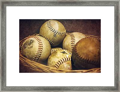 American Pastime  Framed Print by Heather Applegate