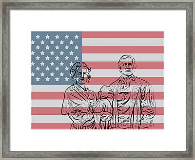 American Patriots Framed Print by Dan Sproul