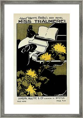 American Poster For Le Roman Miss Träumerei Framed Print by Liszt Collection