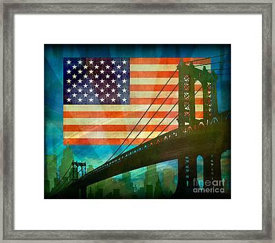 American Pride Framed Print by Bedros Awak