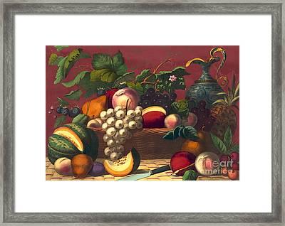 American Prize Fruit 1867 Framed Print by Padre Art