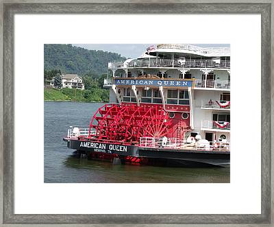 American Queen Paddlewheel Framed Print by Willy  Nelson
