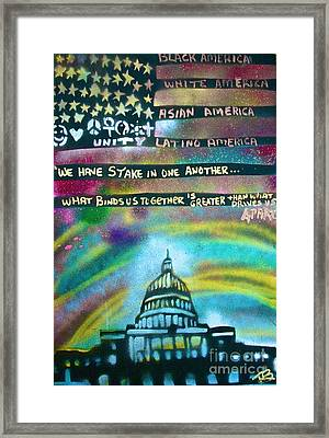American Rainbow Framed Print by Tony B Conscious