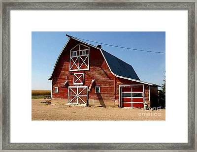 American Red Barn  Framed Print by Lanjee Chee