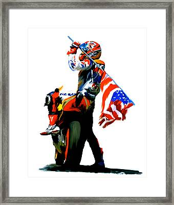 American Revolution Four Nicky Hayden Framed Print by Iconic Images Art Gallery David Pucciarelli