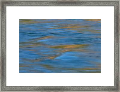 Framed Print featuring the photograph American River Abstract by Sherri Meyer
