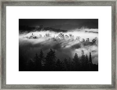 American River Canyon Framed Print