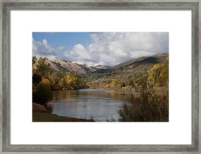 American River Framed Print