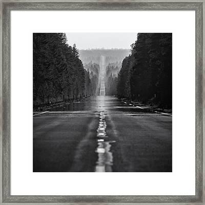 American Road Trip Framed Print