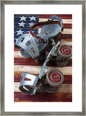 American Roller Skates Framed Print by Garry Gay