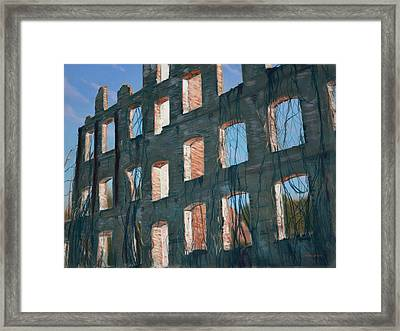 American Ruins Framed Print by Christopher Reid