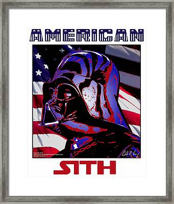 Framed Print featuring the digital art American Sith by Dale Loos Jr