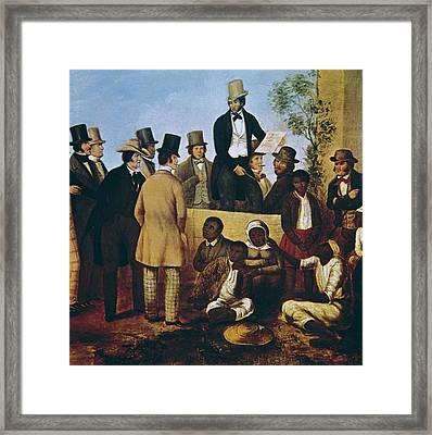 American Slave Market, 1852. Work Framed Print by Everett
