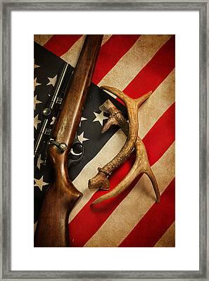 American Sportsman Portrait Framed Print by Bill Wakeley