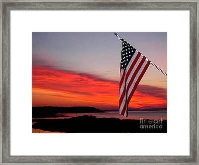 American Sunrise Framed Print by Donnie Freeman