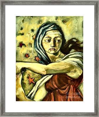 American Sybil Framed Print by Carrie Joy Byrnes