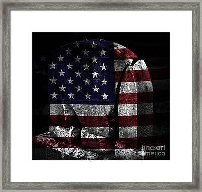 American Tombstone Framed Print by John Stephens