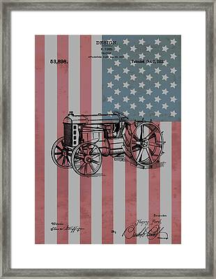 American Tractor Framed Print by Dan Sproul