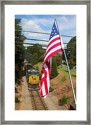 American Train 2 Framed Print