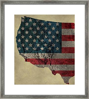 American West Topography Map Framed Print by Dan Sproul