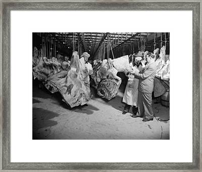 American Wholesale Meat Market Framed Print