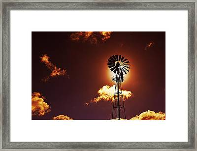American Windmill Framed Print by Marco Oliveira