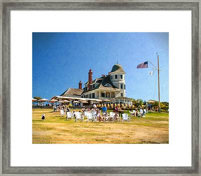 Americana At The Castle Hill Inn Framed Print