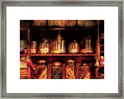 Americana - Candy Framed Print by Mike Savad