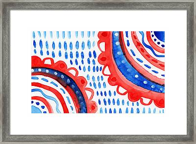 Americana Celebration 3- Painting Framed Print by Linda Woods